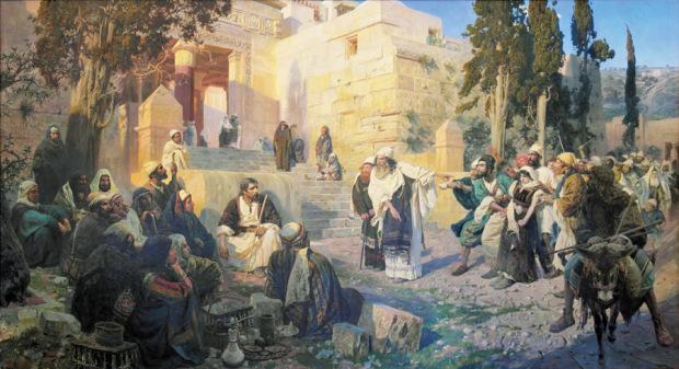 В.Д. Поленов. ХРИСТОС И ГРЕШНИЦА. 1888