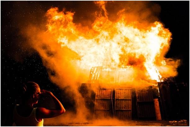 Пожар в Изваре