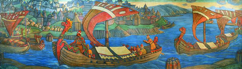 Садко. Богатырский фриз. Н.К. Рерих. 1910
