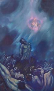 С.Н. Рерих. ОСВОБОЖДЕНИЕ.  Левая часть триптиха «Распятое человечество».  1939 – 1942
