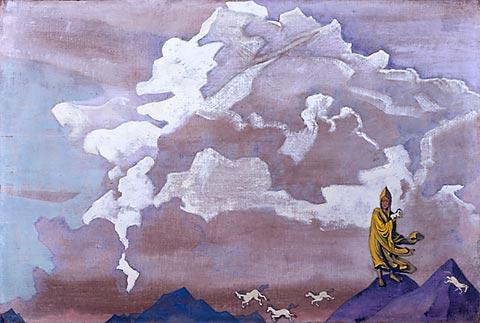 Н.К. Рерих.  Белые кони.  1925