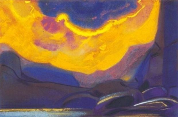 С.Н.Рерих. Жёлтое облако. 1949