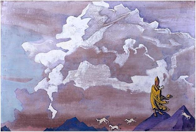 Н. К. Рерих. Белые кони. 1925