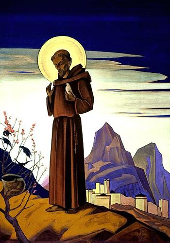 Н.К.Рерих. Святой Франциск. 1932