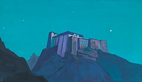 Н.К. Рерих. Твердыня Тибета. 1932
