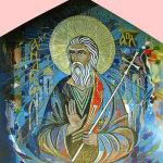 Апостол Андрей Первозванный. Керамическое панно. 4 кв. м. 2000 год