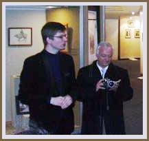 Владимир Мельников и Тодор Ялъмов на выставке РЕРИХИ: ВЗГЛЯД ИЗ ПЕТЕРБУРГА. Осень 2005