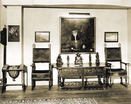 В Музее Николая Рериха. 1950-е годы