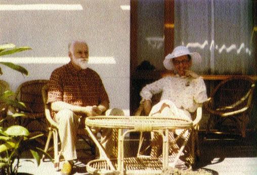 Людмила Живкова со Святославом Рерихом. 1981 г