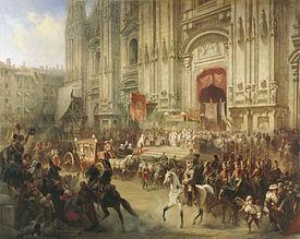 Торжественная встреча Суворова в Милане в апреле 1799 года. Художник А.Шарлемань