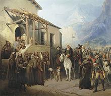 А.И.Шарлемань. «Фельдмаршал Суворов на вершине Сен-Готарда 13 сентября 1799 года»