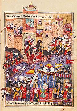 Тимур при осаде крепости Балх в 1370 году