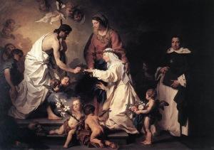 Пьер Сюблейра. Мистическое обручение святой Екатерины Сиенской, 1740-1745.