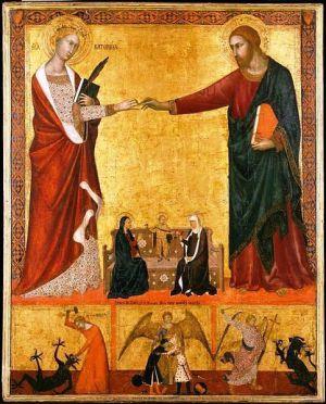 Барна да Сиена.«Мистическое обручение св. Екатерины». ок. 1340 г