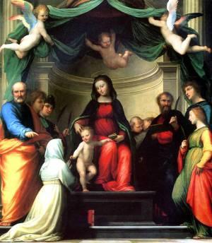 Мистическое обручение св.Екатерины Сиенской в присутствии святых