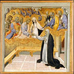 Джованни ди Паоло.Мистическое обручение св. Екатерины Сиенской.1460.