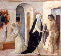Пьетро Франческо дельи Ориото. Екатерина Сиенская дает одежду бедняку