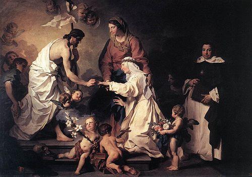 Пьер Сюблейра. Мистическое обручение святой Екатерины Сиенской