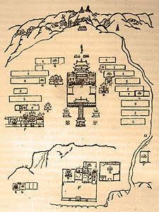 План монастыря Наропанчен, сделанный Дилова Хутухтой