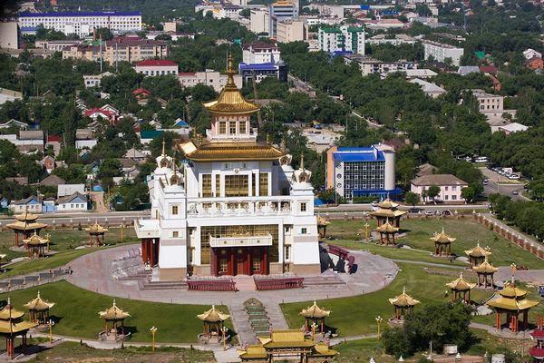 Храм, «Золотая обитель Будды Шакьямуни», Элиста, Калмыкия