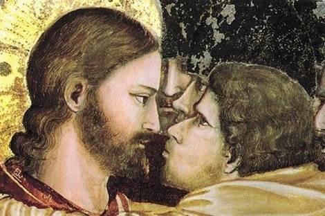 Джотто ди Бондоне. Поцелуй Иуды (фрагмент). 1304–1306