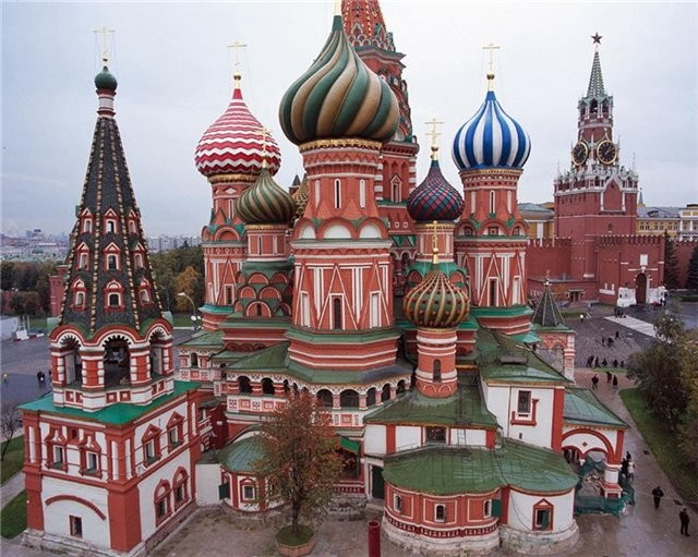 Красная площадь, вид на храм Василия Блаженного