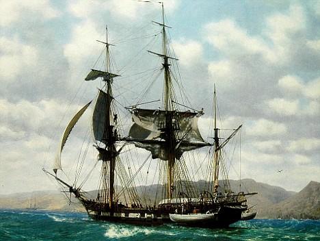 Корабль «Бигль», на котором Ч.Дарвин совершил кругосветное путешествие