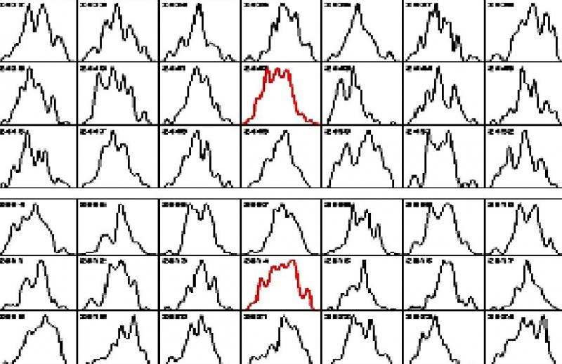 Примеры гистограмм (из книги С.Э.Шноля «Космофизические факторы в случайных процессах», 2009 г.)