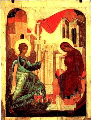 А.Рублев «Благовещение» (1405)