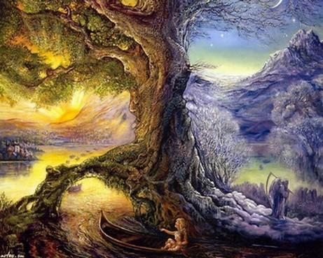 Josephine Wall, Дерево Времени, Река Жизни