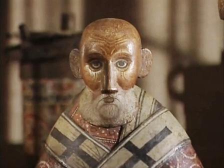 Никола. Деревянная скульптура из хранилища вологодского музея