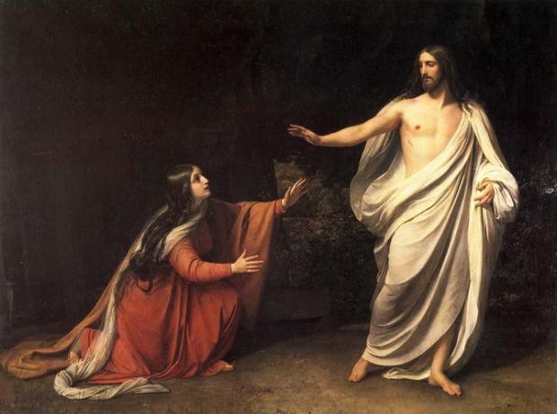 Явление Христа Марии Магдалине после воскресения.  А.А. Иванов. 1835