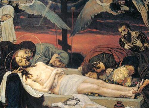 В.М. Васнецов. Положение во гроб.