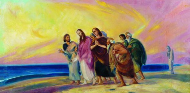 С.Н. Рерих. Христос с учениками (Не окончено). Конец 1930-х - начало 1940-х