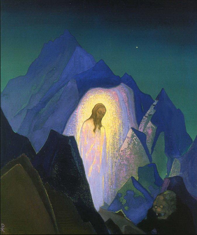 Н.К. Рерих. Христос в пустыне. 1933