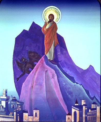 Н.К. Рерих. Искушение Христа.1933