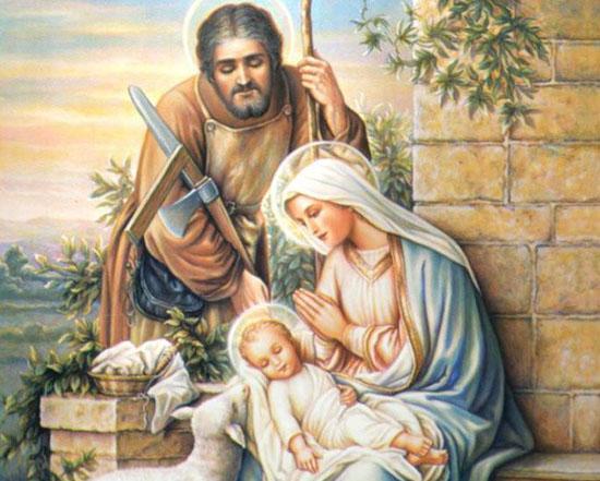 Дева Мария с сыном Иисусом