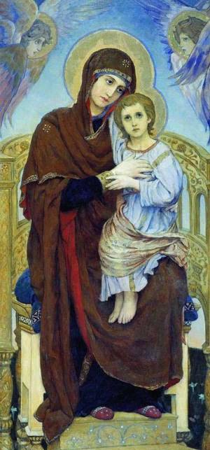 Богоматерь с младенцем. В.Васнецов. 1901