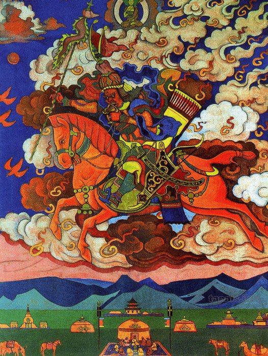 Н.К. Рерих. Великий Всадник. Ригден-Джапо – Посланник Шамбалы. 1927