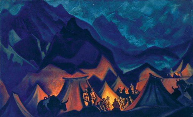 Н.К. Рерих. Легенда о Шамбале. 1932