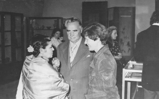 Дэвика Рани Рерих, П.Ф. Беликов, Л.А. Андросова. 1978 г.