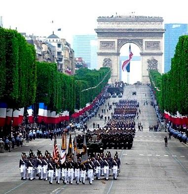 Торжественный парад в честь праздника