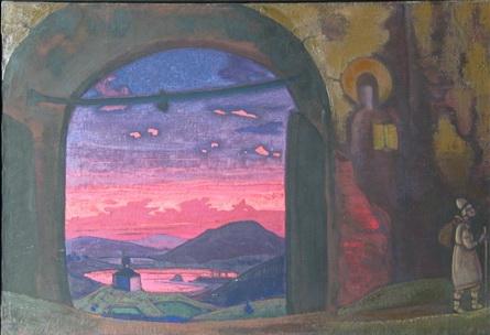 Н.К.Рерих. Святой Сергий. 1922. Национальный музей Сербии. Белград
