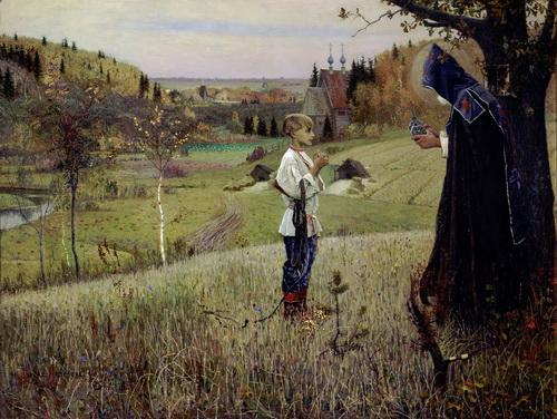 М.Н.Нестеров. Видение отроку Варфоломею. 1889. ГТГ, Москва