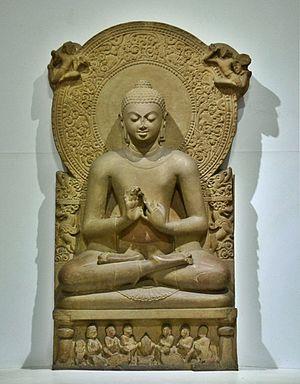 Статуя Будды в музее Сарнатха, IV в. н. э.
