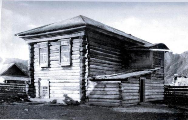 Дом В.САтаманова, вид со двора. Август 1926 г. (из архива Музея Н.Рериха в Нью-Йорке