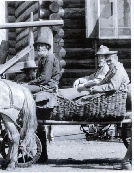 Н.К.Рерих и Ю.Н.Рерих в Усть-Коксе. Август 1926 г. (из архива Музея Н.Рериха в Нью-Йорке)