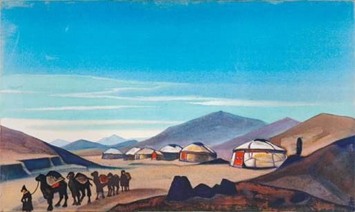 Н.К.Рерих. Монголия. (Юрты). 1935–1936. Из собрания Ю.Н.Рериха. Местонахождение неизвестно
