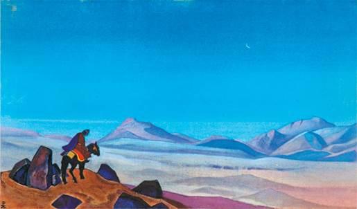 Н.К.Рерих. Монголия. (Следы). 1935–1936. Из собрания Ю.Н.Рериха. Местонахождение неизвестно
