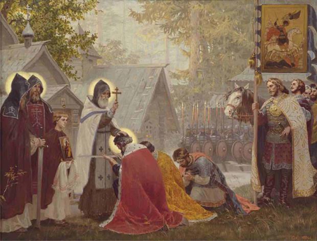 С.Н. Ефошкин. Благословение кн. Дмитрия Иоанновича со дружиною на битву.